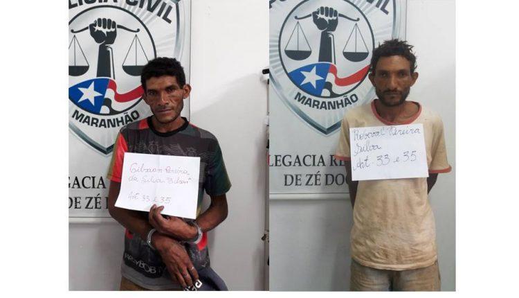 POLÍCIA CIVIL DO MARANHÃO POR INTERMÉDIO DA 8ªDRP DE ZÉ DOCA PRENDE SUSPEITOS DE TRÁFICO DE DROGAS