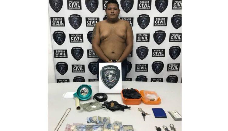 SENARC – POLÍCIA CIVIL APREENDE CRACK E COCAÍNA NO BAIRRO DA ALEMANHA.