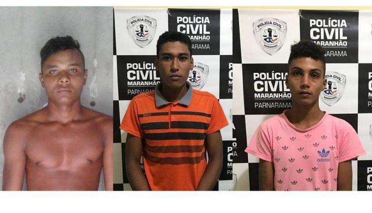 TRIO É PRESO PELA POLÍCIA CIVIL SUSPEITO DE COMETER LATROCÍNIO EM PARNARAMA