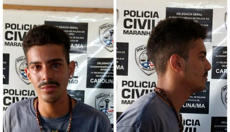POLÍCIA CIVIL DE CAROLINA MARANHÃO DEU CUMPRIMENTO AO MANDADO DE PRISÃO PREVENTIVA DE SUSPEITO DE ROUBO MAJORADO