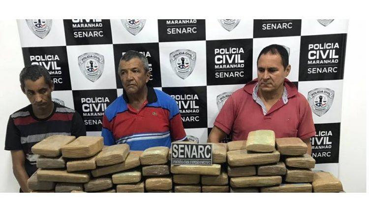SENARC APREENDE CERCA DE 300KG DE MACONHA PRENSADA EM MIRANDA DO NORTE