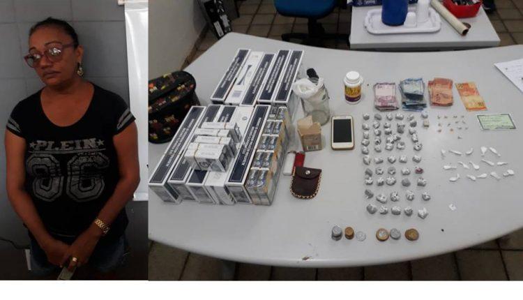 POLÍCIA CIVIL PRENDE MULHER SUSPEITA POR TRÁFICO DE DROGAS EM TIMON