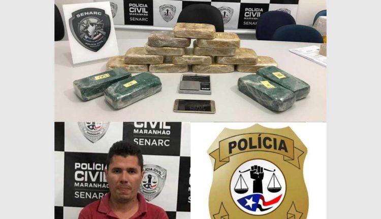 OPERAÇÃO DA POLÍCIA CIVIL PRENDE ACUSADO EM PRESIDENTE DUTRA COM ENTORPECENTES AVALIADOS EM R$ 300 MIL REAIS