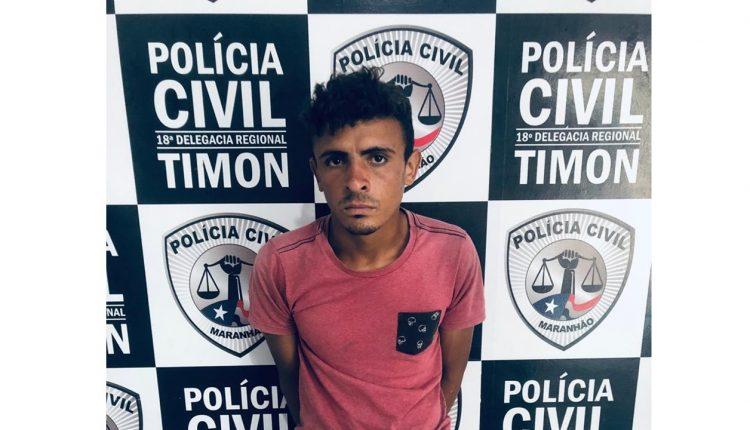 POLÍCIA CIVIL PRENDE HOMEM COM MOTOCICLETA ROUBADA EM TIMON