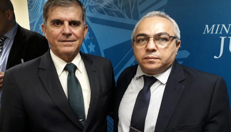 SUPERINTENDENTE DA SPTC, MIGUEL ALVES PARTICIPA DE REUNIÃO COM SECRETÁRIO NACIONAL DE SEGURANÇA PÚBLICA, GENERAL THEOPHILO EM BRASÍLIA