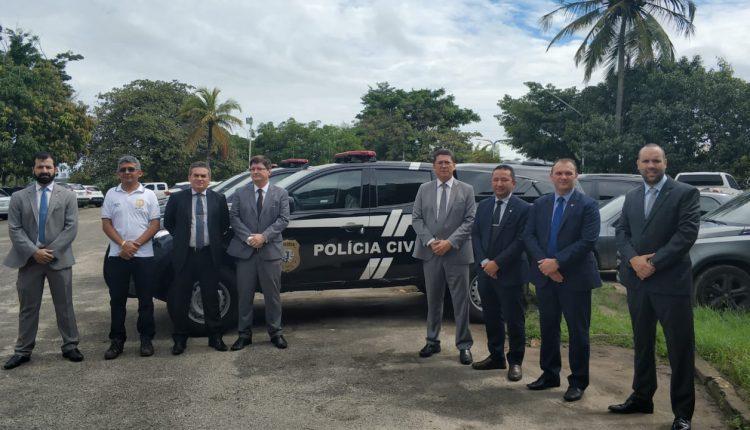 Três regionais de Polícia Civil recebem novas viaturas