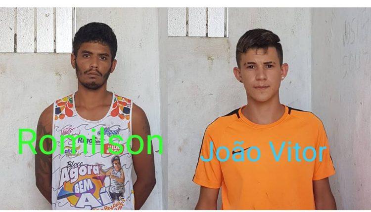 EM BARRA DO CORDA, POLÍCIA CIVIL PRENDE DOIS SUSPEITOS DE COMETER ASSALTOS