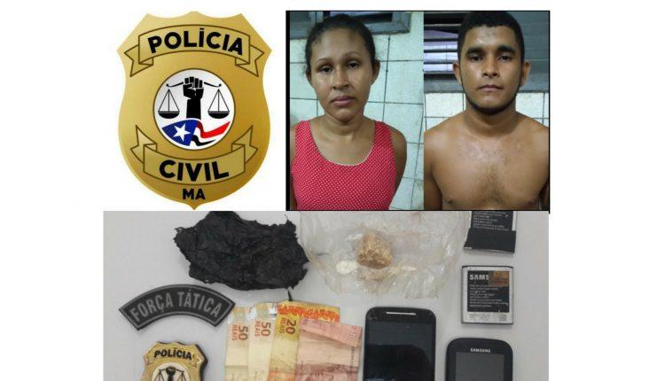 EM VIANA, POLÍCIA CIVIL E MILITAR PRENDEM CASAL SUSPEITO POR TRÁFICO DE DROGAS