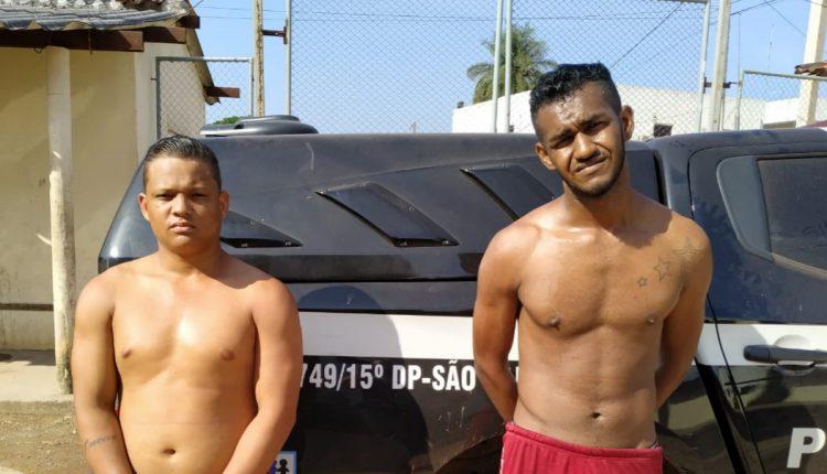 Polícia Civil efetua prisão em flagrante de dois suspeitos da prática de roubo majorado no São Raimundo