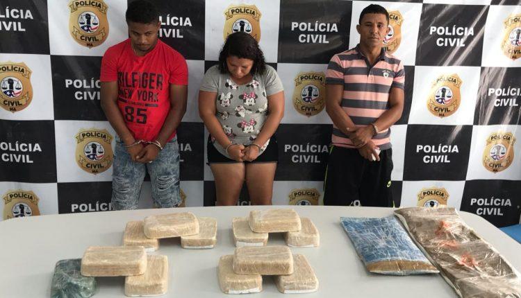 POLÍCIA CIVIL PRENDE TRÊS SUSPEITOS POR TRÁFICO INTERESTADUAL EM IGARAPÉ DO MEIO E SÃO LUÍS