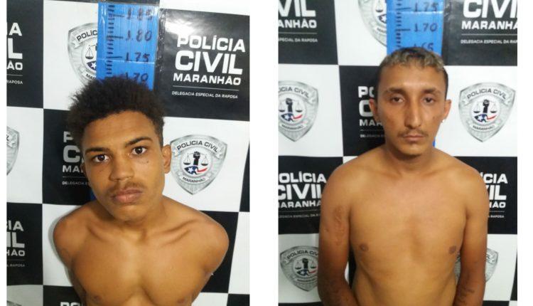 Polícia Civil e Militar da Raposa prende dupla de assaltantes que agia na região