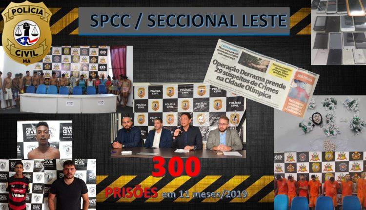 A POLÍCIA CIVIL, POR MEIO DA SUPERINTENDÊNCIA DE POLÍCIA CIVIL DA CAPITAL (SECCIONAL LESTE), JÁ REALIZOU 300 PRISÕES EM 2019 NA REGIÃO METROPOLITANA