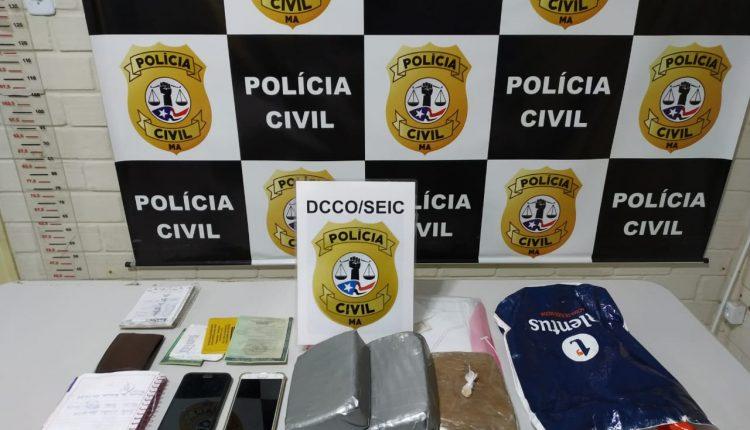 POLÍCIA CIVIL PRENDE EM FLAGRANTE E APREENDE DROGA AVALIADA EM SESSENTA MIL REAIS