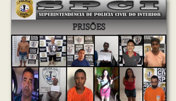 NOS ÚLTIMOS 100 DIAS DE 2019, SPCI REALIZOU CERCA DE 619 PRISÔES NO INTERIOR DO MARANHÃO