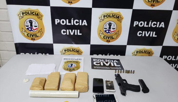 POLÍCIA CIVIL PRENDE EM FLAGRANTE POR TRÁFICO DE DROGAS E CAPTURA FORAGIDA DA JUSTIÇA