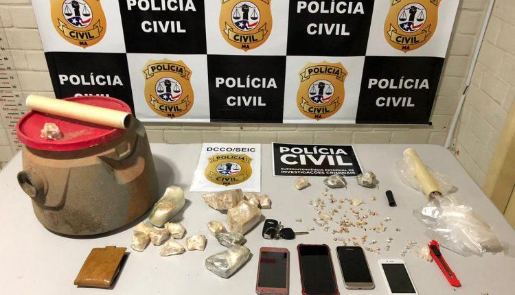 POLÍCIA CIVIL PRENDE TRÊS ACUSADOS DE TRÁFICO E APREENDE DROGA AVALIADA EM R$30 MIL