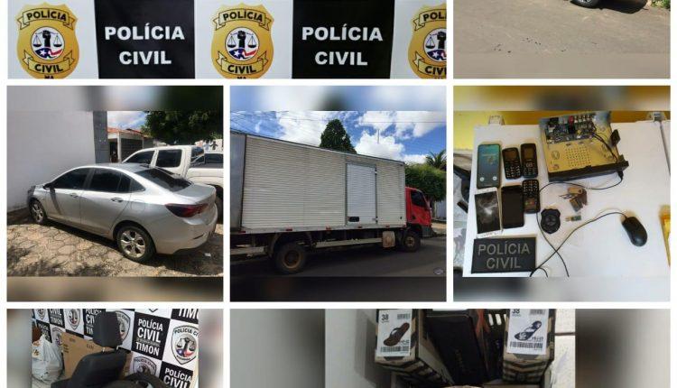 POLÍCIA CIVIL DO MARANHÃO E PIAUÍ DEFLAGRAM OPERAÇÃO CARGA PESADA COM TREZE MANDADOS DE PRISÃO E DEZ MANDADOS DE BUSCA E APREENSÃO CUMPRIDOS