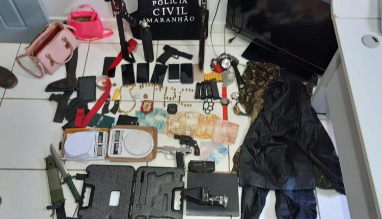 OPERAÇÃO POLICIAL RESULTA NA APREENSÃO DE ARMAS E DROGAS E NA PRISÃO TRAFICANTE E HOMICIDA EM BALSAS