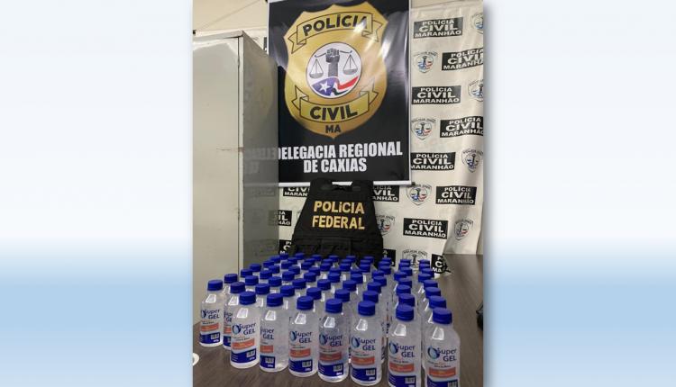 POLÍCIA CIVIL PRENDE HOMEM COM 70 FRASCOS DE ÁLCOOL GEL FALSIFICADOS