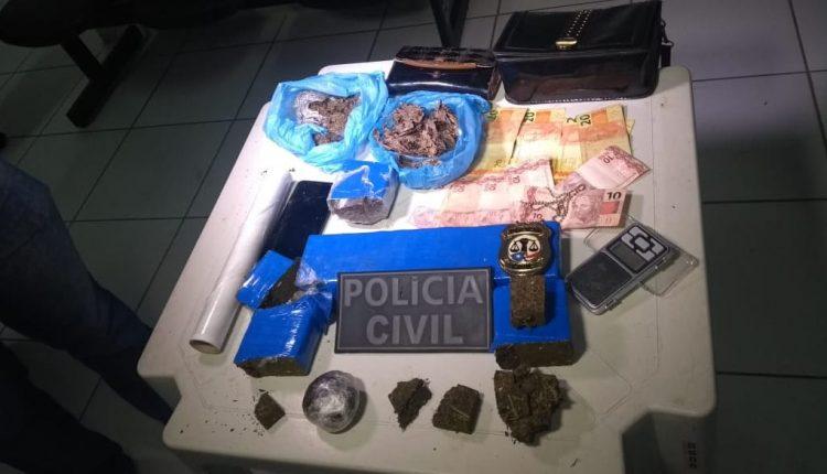 POLÍCIA CIVIL PRENDE MULHER COM 2,5KG DE MACONHA EM BACABAL
