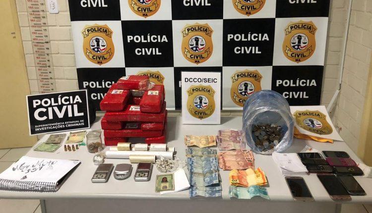 POLÍCIA CIVIL REALIZA PRISÃO DE TRÊS TRAFICANTES E APREENDE 10KG DE DROGA