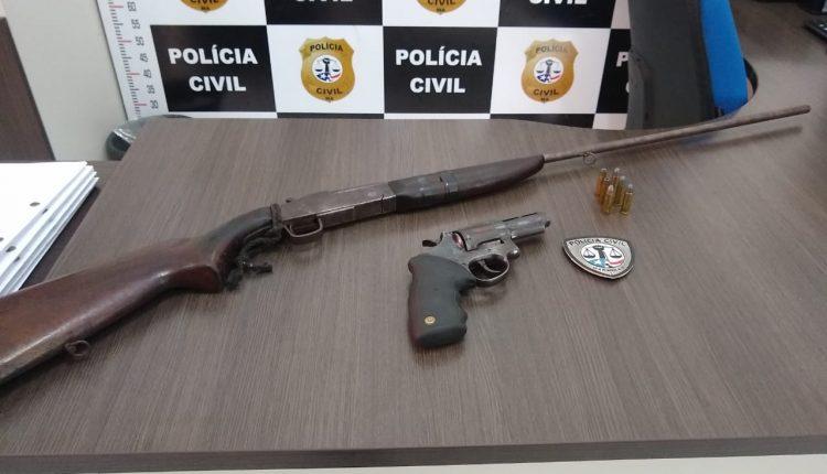 POLÍCIA CIVIL REALIZA PRISÃO POR PORTE ILEGAL DE ARMA DE FOGO EM AÇAILÂNDIA