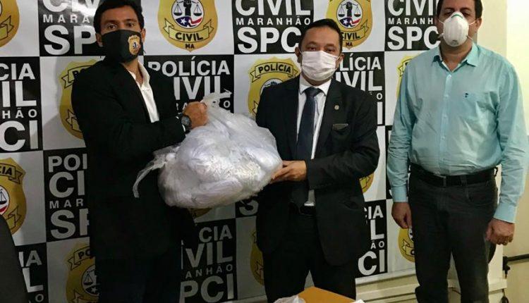 POLÍCIA CIVIL DO MARANHÃO DISTRIBUI MÁSCARAS AOS SERVIDORES