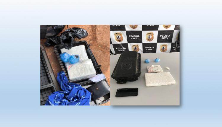 POLÍCIA CIVIL REALIZA OPERAÇÃO DE REPRESSÃO AO TRÁFICO DE DROGAS NO INTERIOR DO ESTADO E APREENDE 2KG DE COCAÍNA