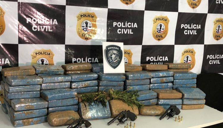 POLÍCIA CIVIL REALIZA OPERAÇÃO DE REPRESSÃO AO TRÁFICO DE DROGAS EM VITÓRIA DO MEARIM E PRENDE 5 INDIVÍDUOS, APREENDE 5 VEÍCULOS E, APROXIMADAMENTE, 120KG DE MACONHA