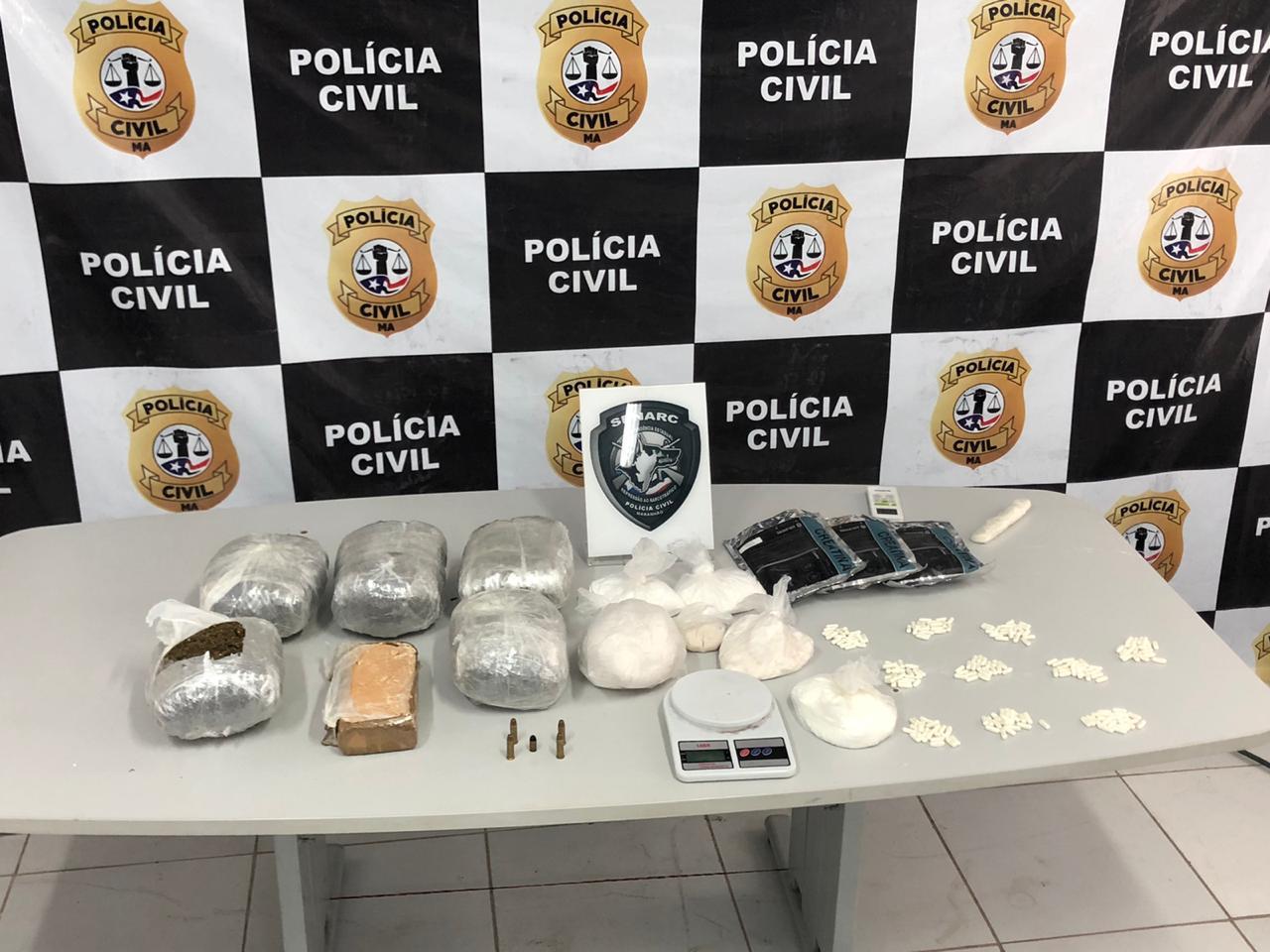 POLÍCIA CIVIL DEBELA CASA QUE FUNCIONAVA COMO DEPÓSITO E LOCAL DE MANIPULAÇÃO DE DROGAS