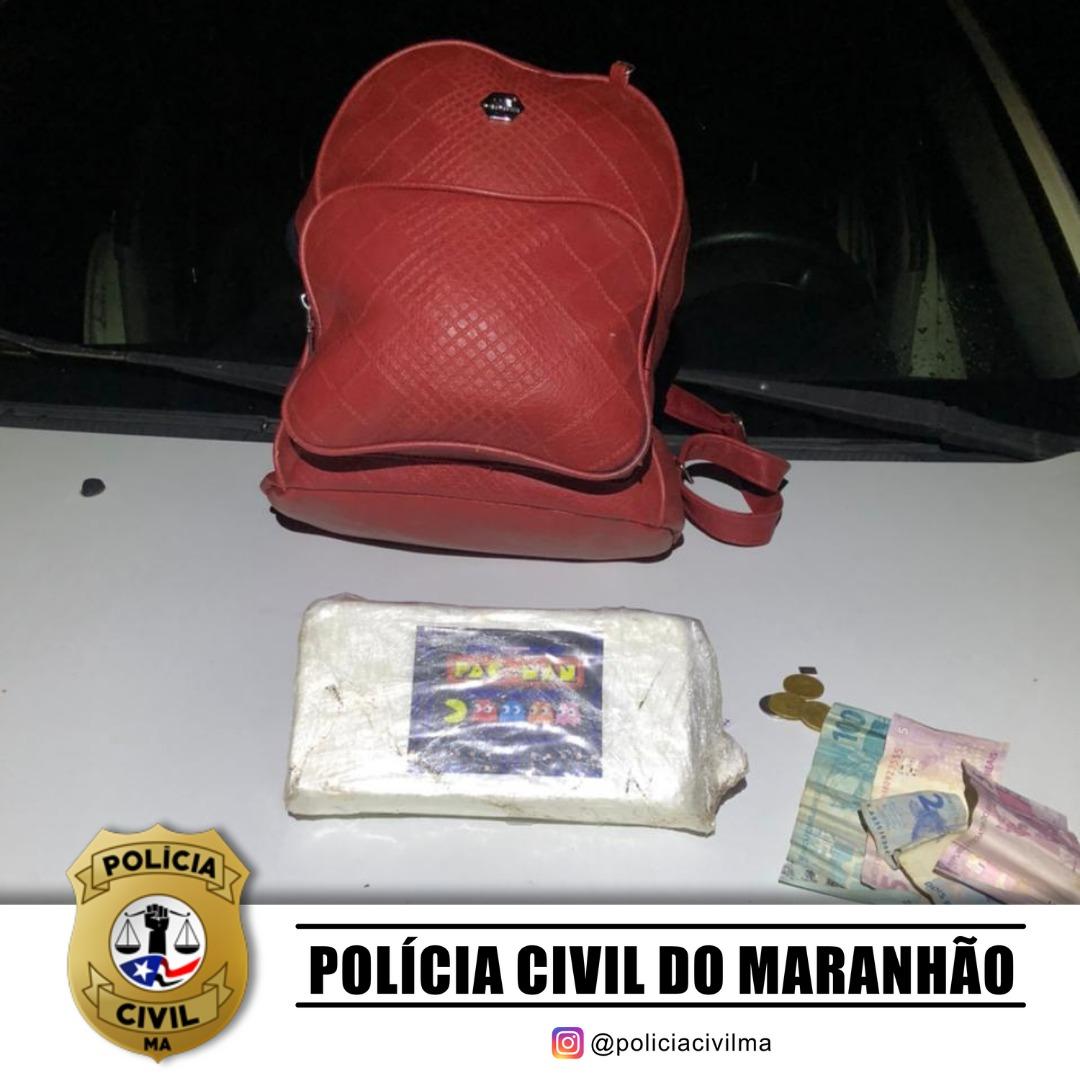POLÍCIA CIVIL REALIZA PRISÃO EM FLAGRANTE DE MULHER COM 1KG DE COCAÍNA EM PINHEIRO/MA