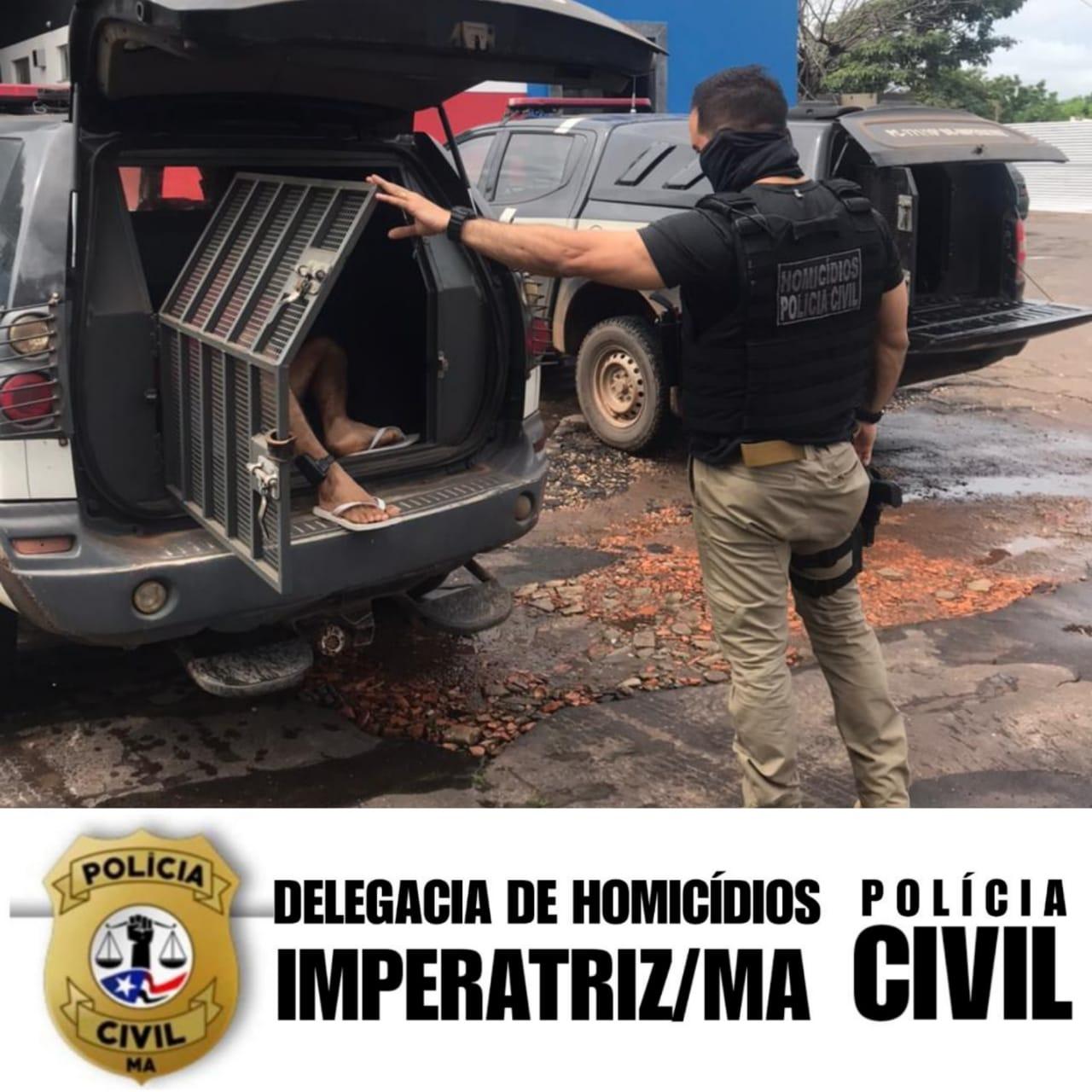 EM IMPERATRIZ, POLÍCIA CIVIL PRENDEU SUSPEITO DE DOIS HOMICÍDIOS