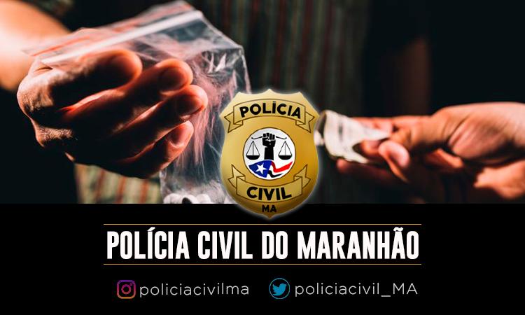 POLÍCIA CIVIL PRENDE CASAL POR TRÁFICO DE DROGAS EM SÃO LUÍS